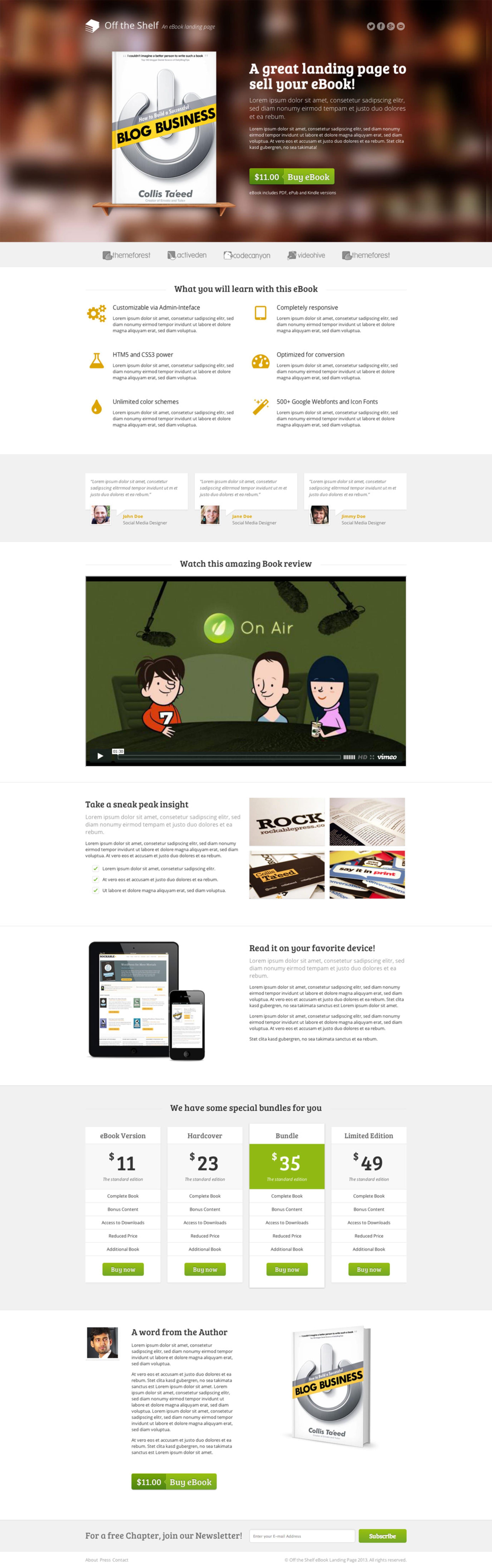 Off the Shelf Website Screenshot
