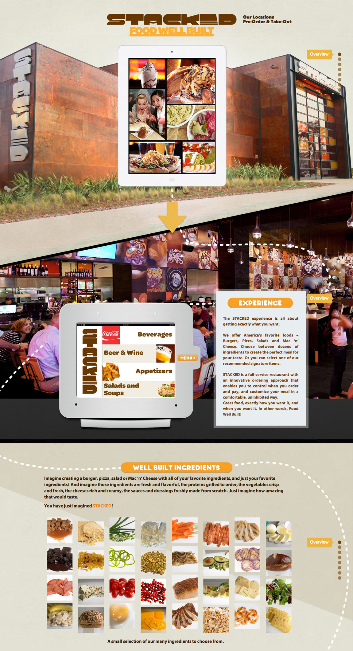 Stacked Restaurants Website Screenshot