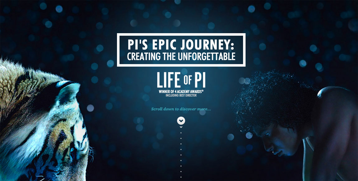 Pi's Epic Journey Website Screenshot