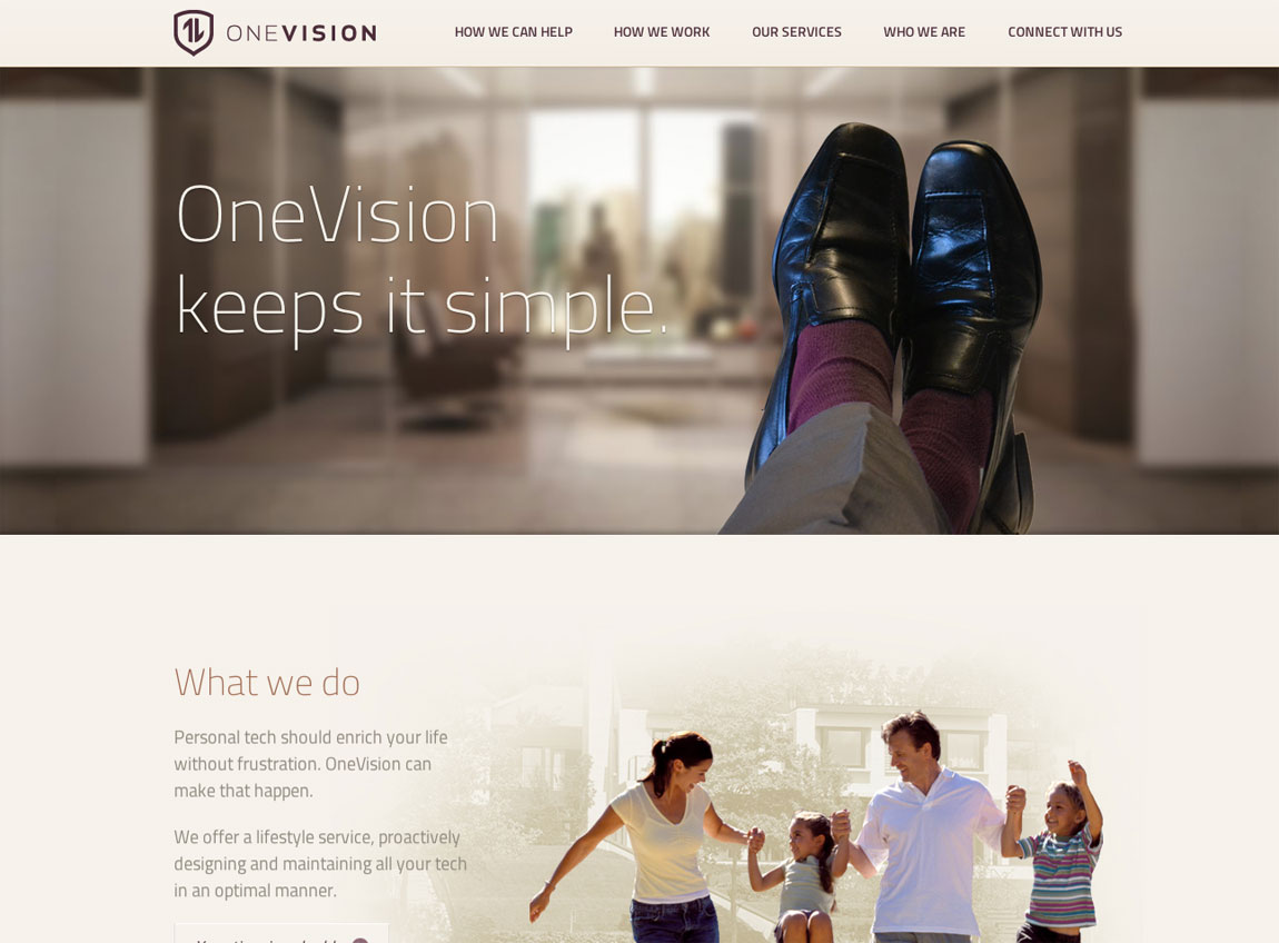 OneVision Website Screenshot