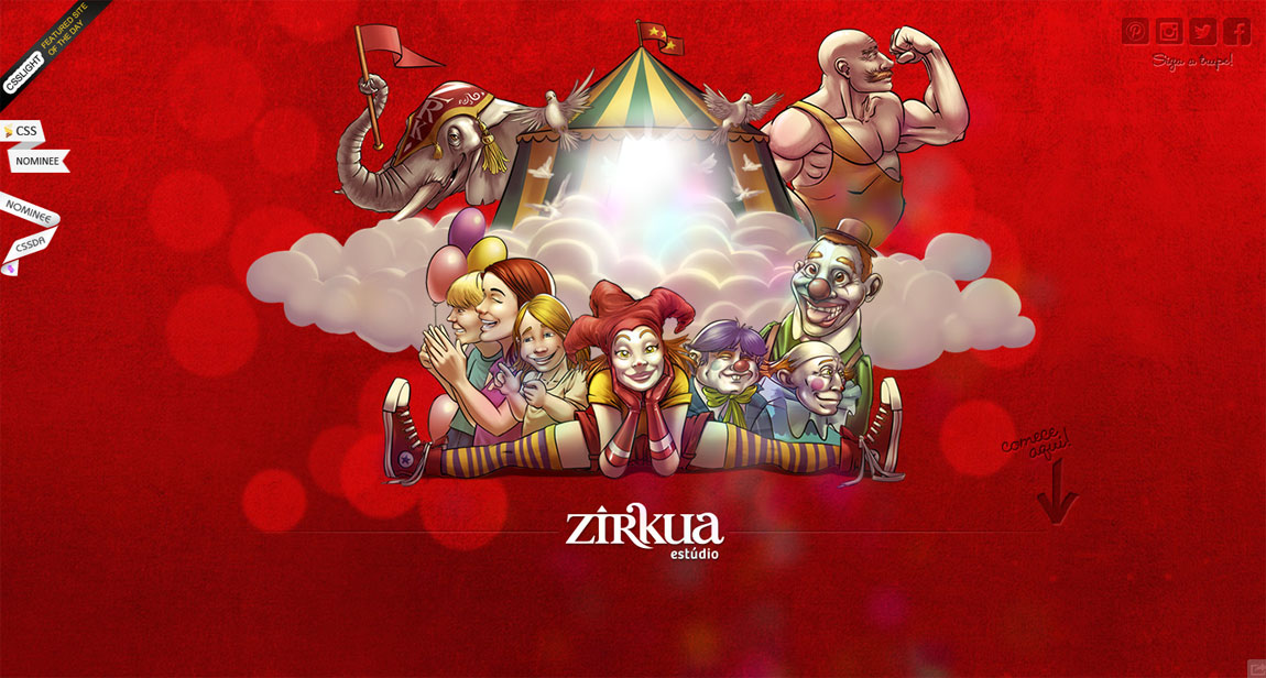 Zírkua Estúdio – Picadeiro Digital Website Screenshot