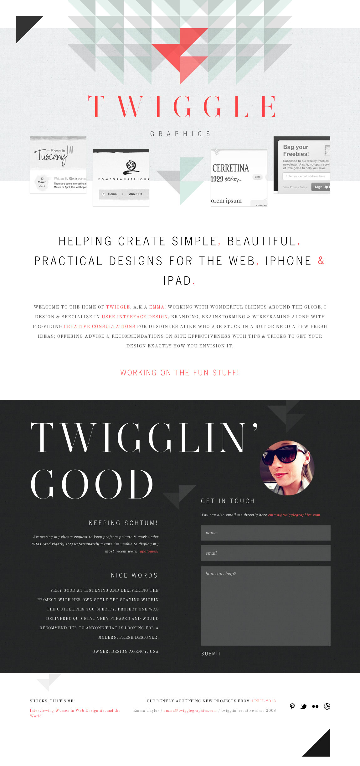 Twiggle Graphics Website Screenshot
