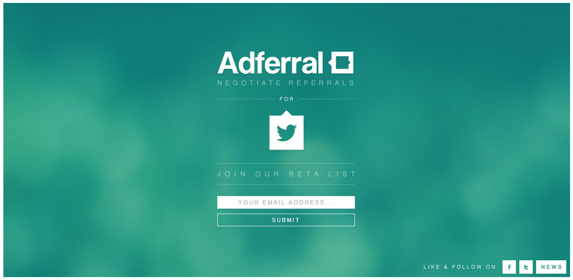 Adferral | Negotiate referrals Website Screenshot