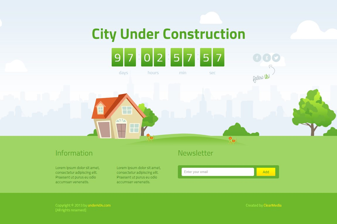 Animated City Website Screenshot