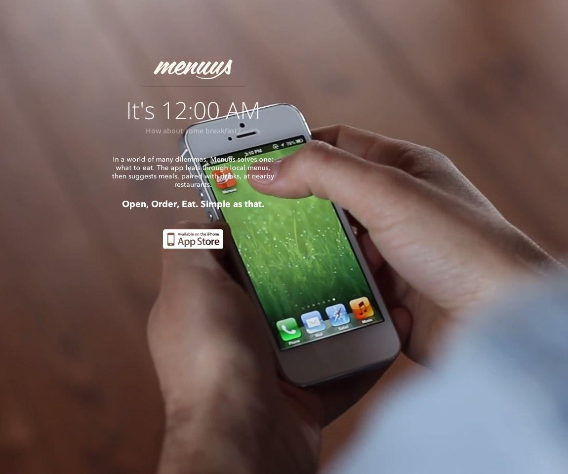 Menuus App Website Screenshot