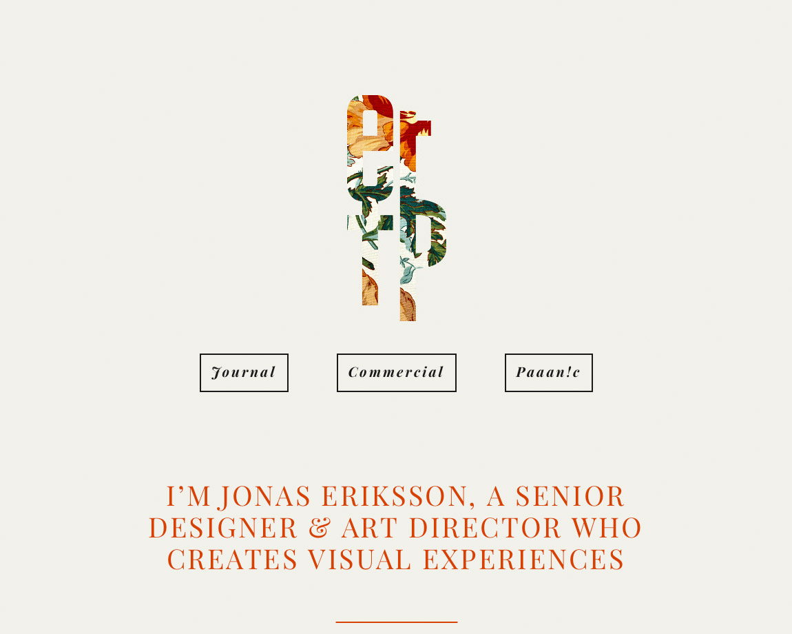 Jonas Eriksson Website Screenshot