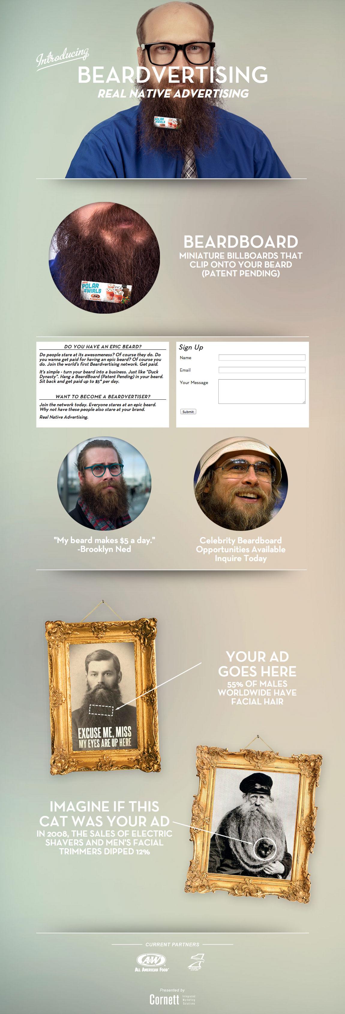 Beardvertising Website Screenshot