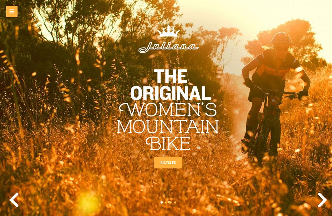 Juliana Bicycles Website Screenshot