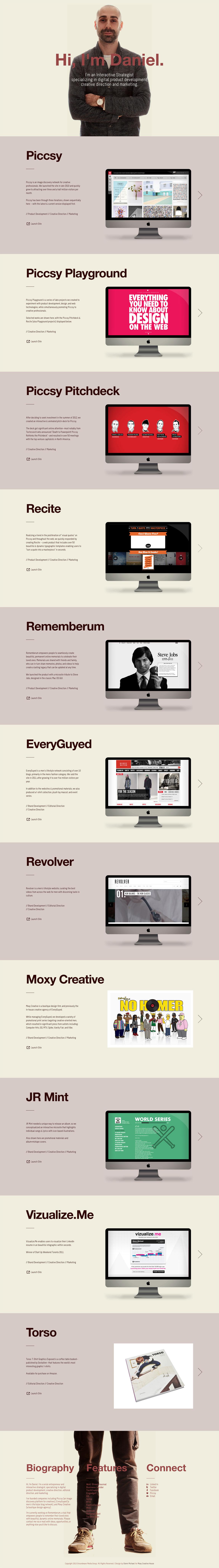 Daniel Eckler Website Screenshot