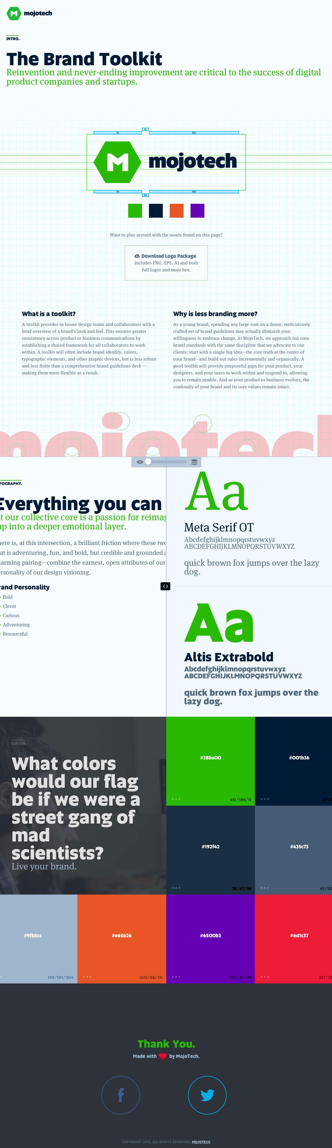 The Brand Toolkit Website Screenshot