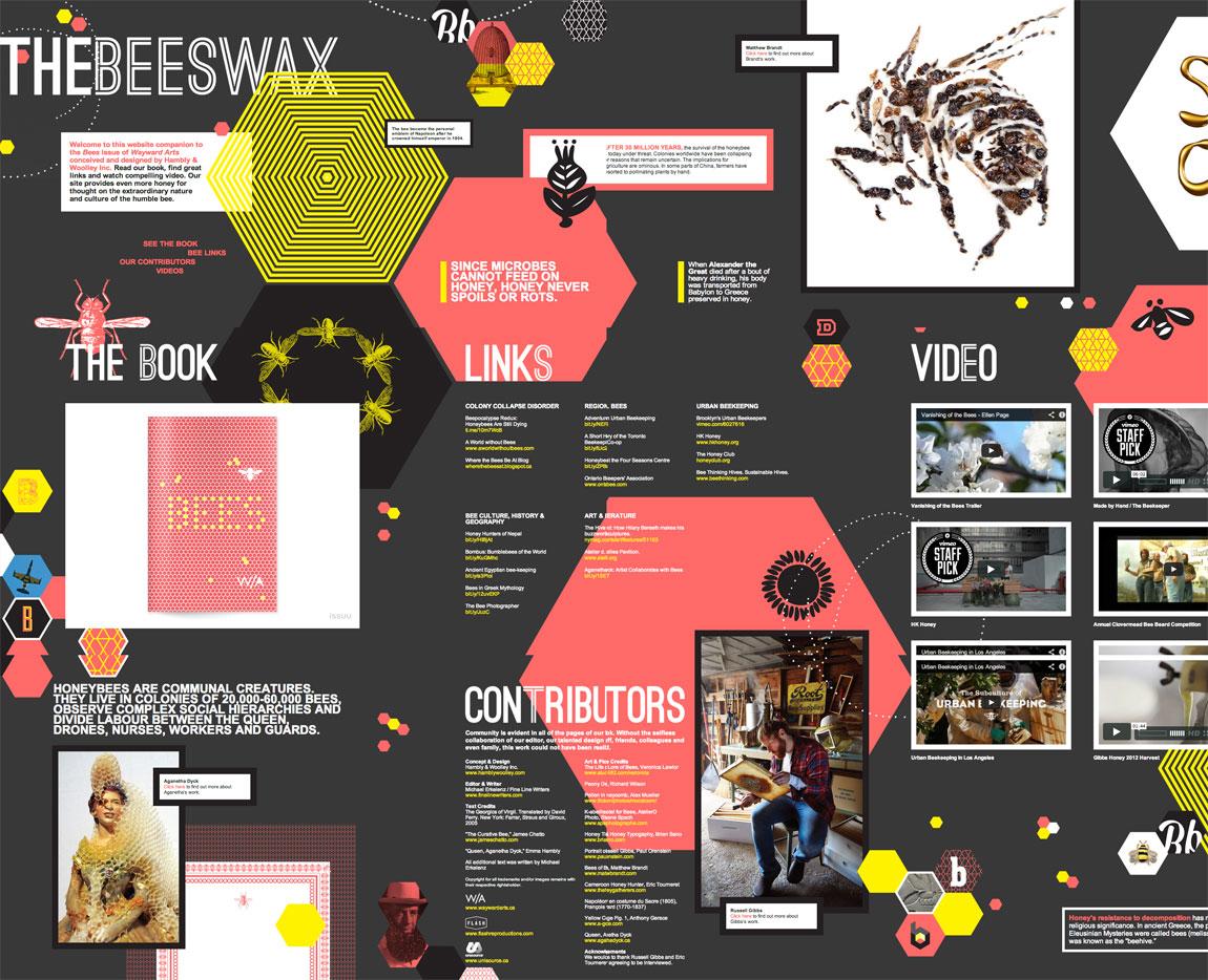 The Beeswax Website Screenshot