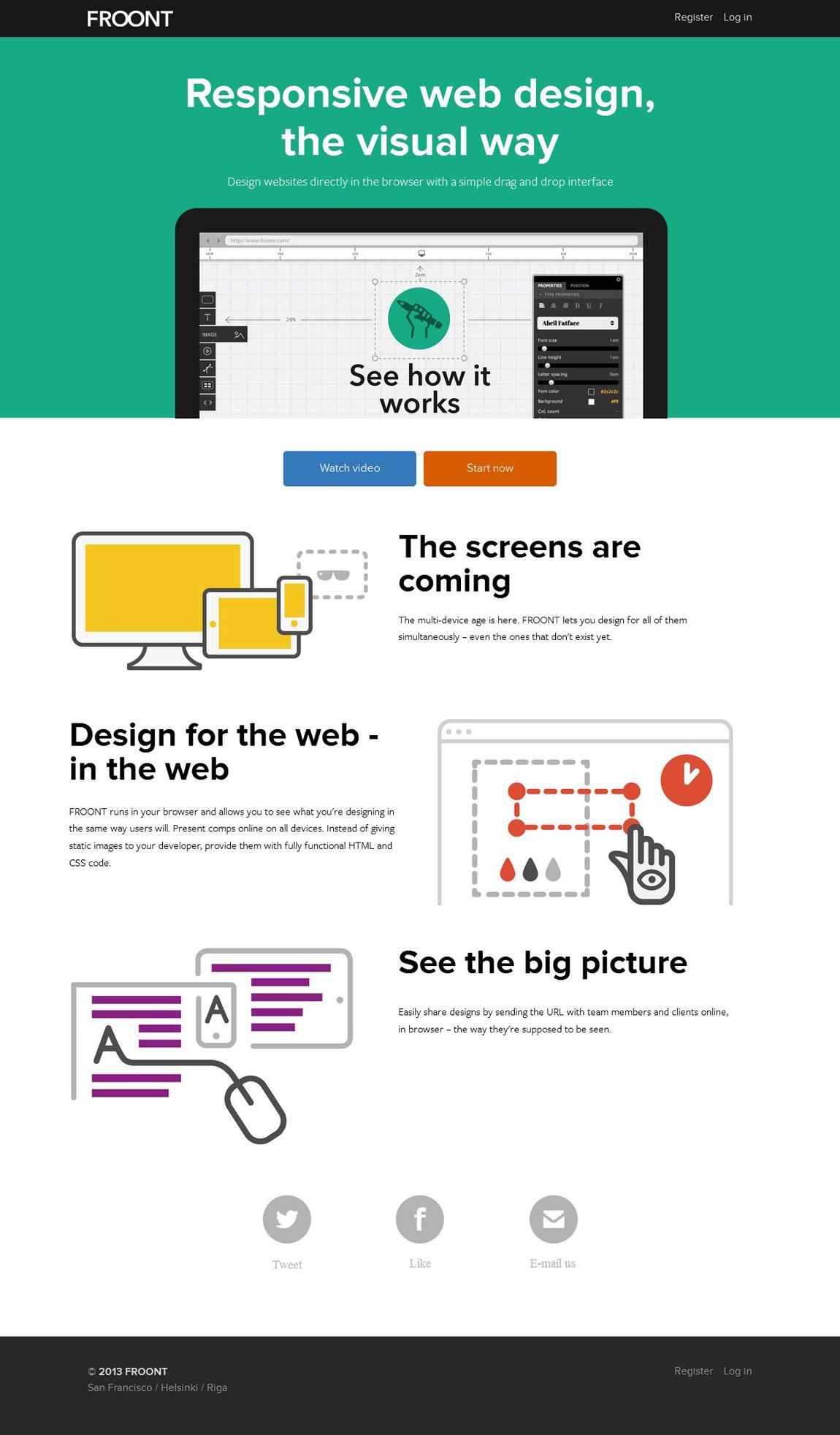 Froont Website Screenshot
