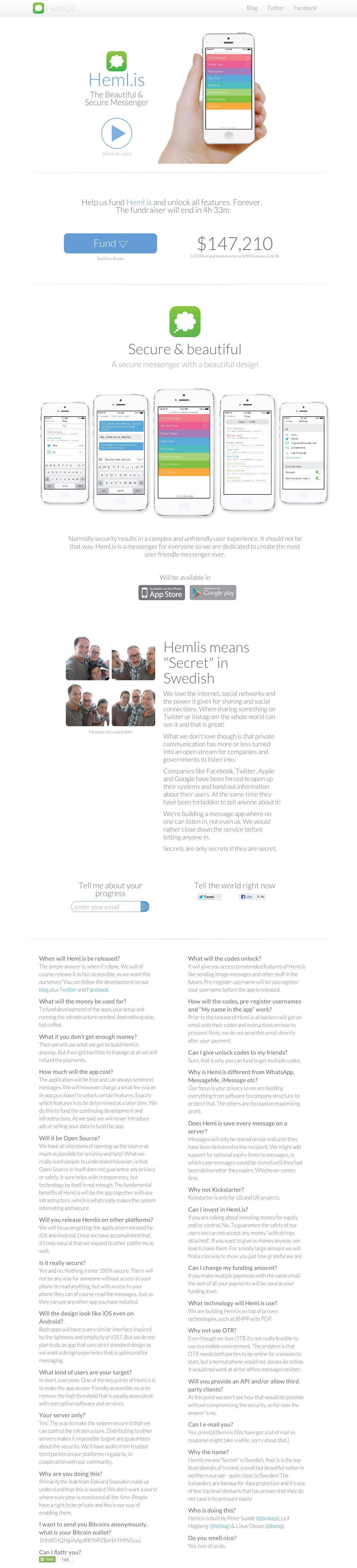 Heml.is Website Screenshot