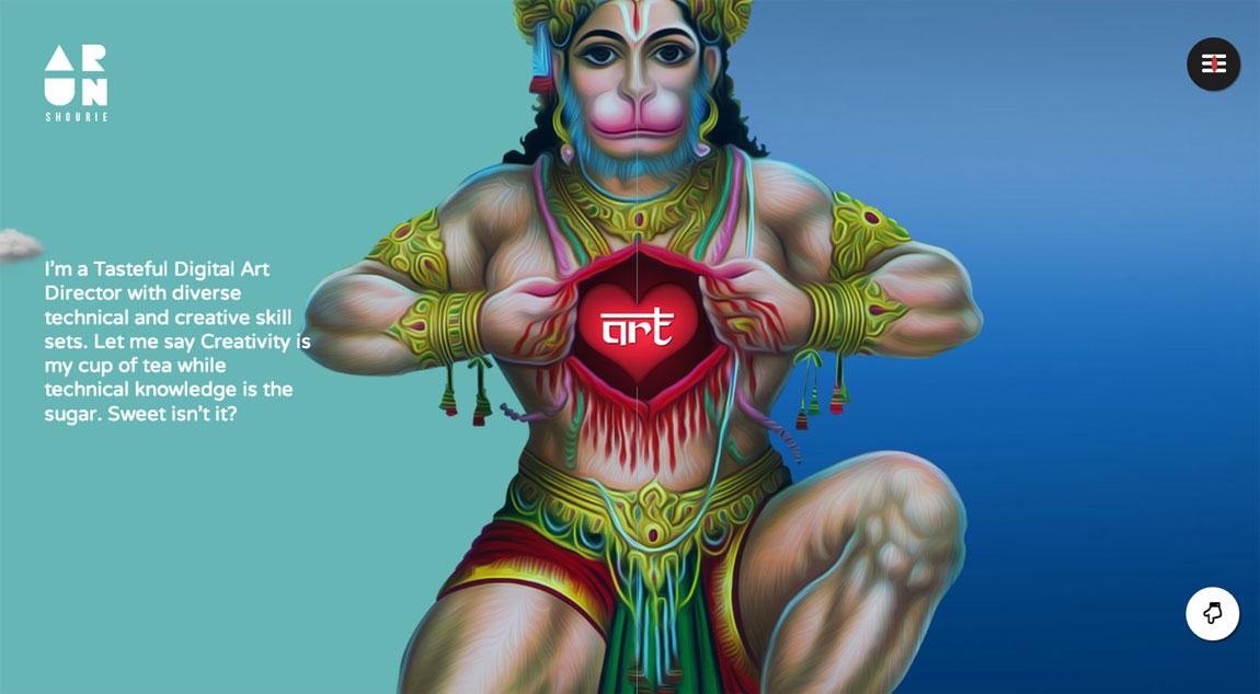 Arun Shourie Website Screenshot