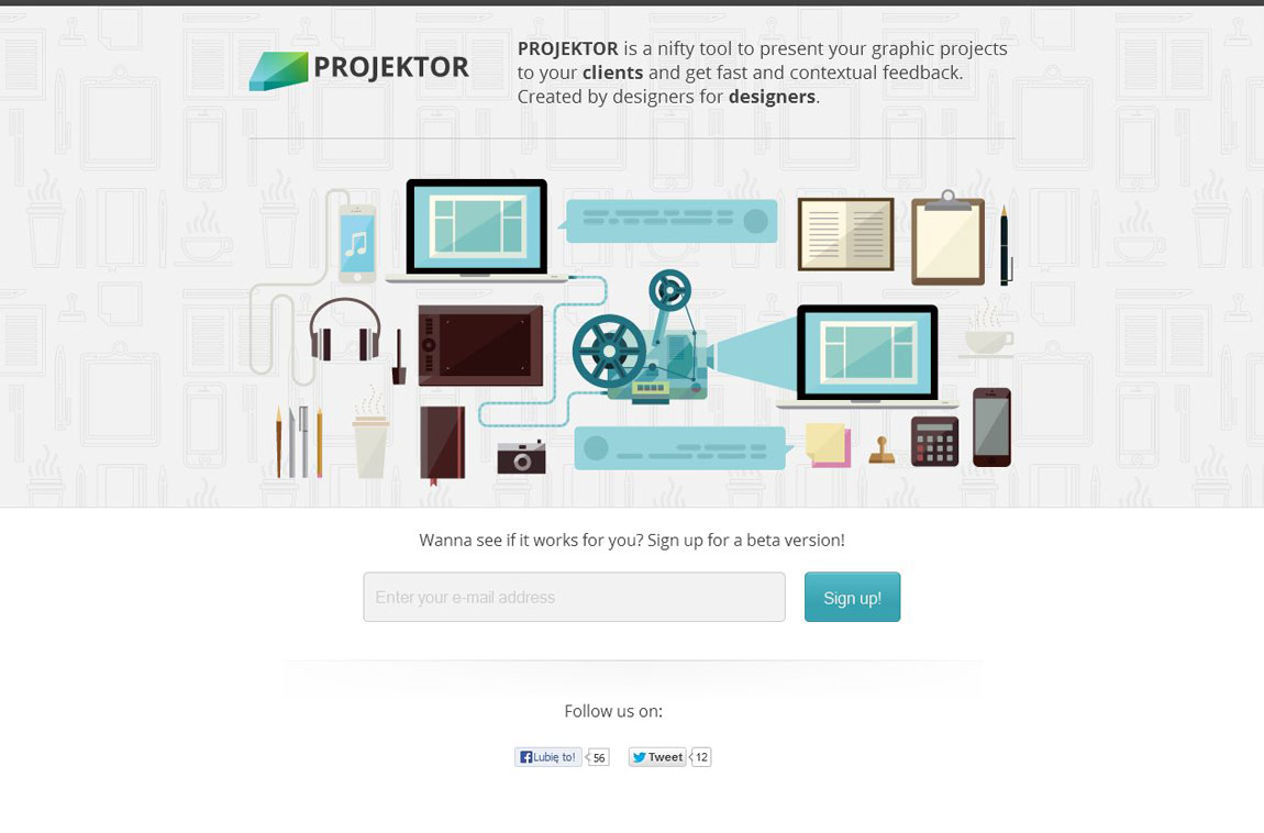 Projektor Website Screenshot
