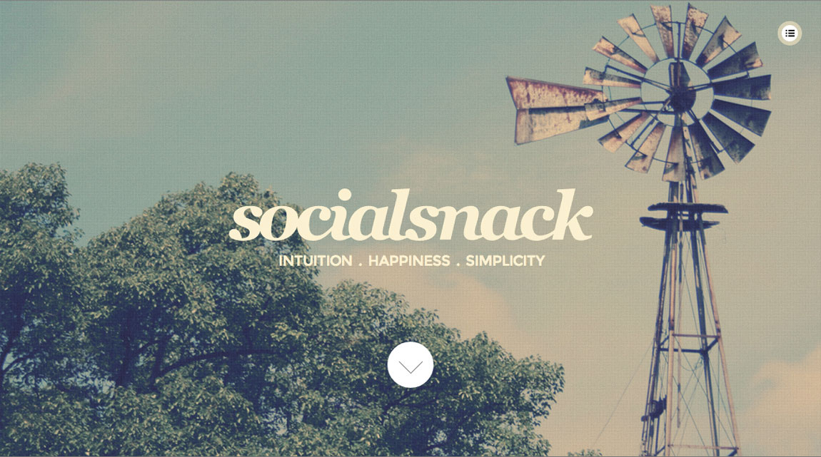 Social Snack Website Screenshot