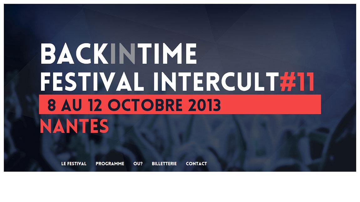 Festival Intercult 2013 – Back in Time Website Screenshot