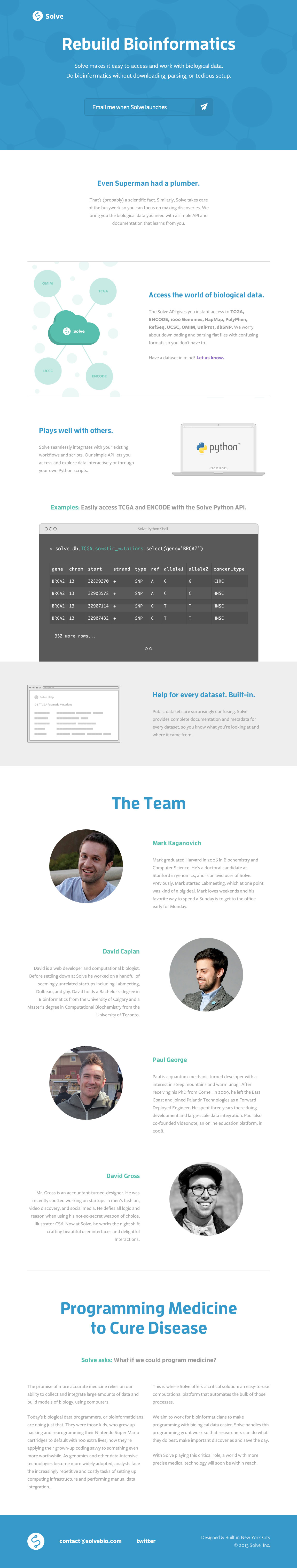 Solve Website Screenshot