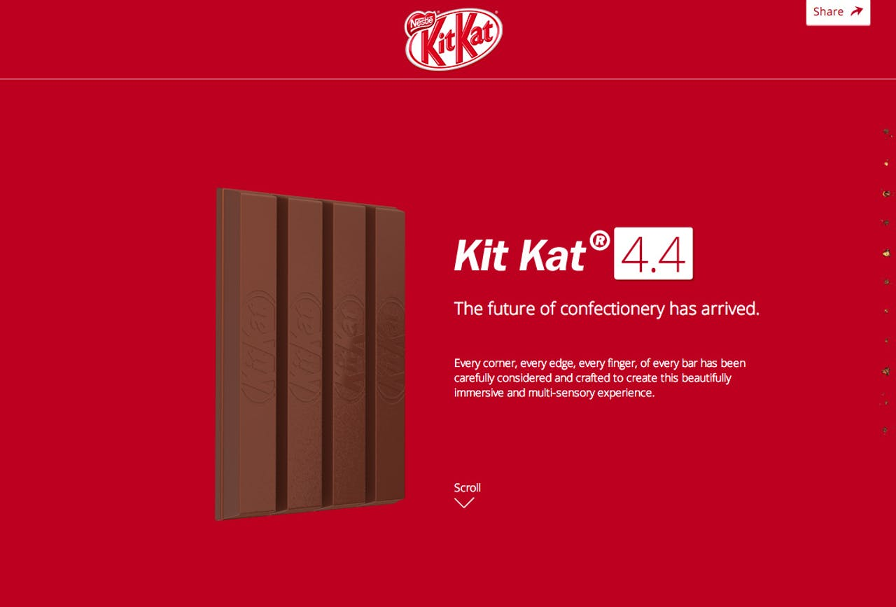 KITKAT Website Screenshot
