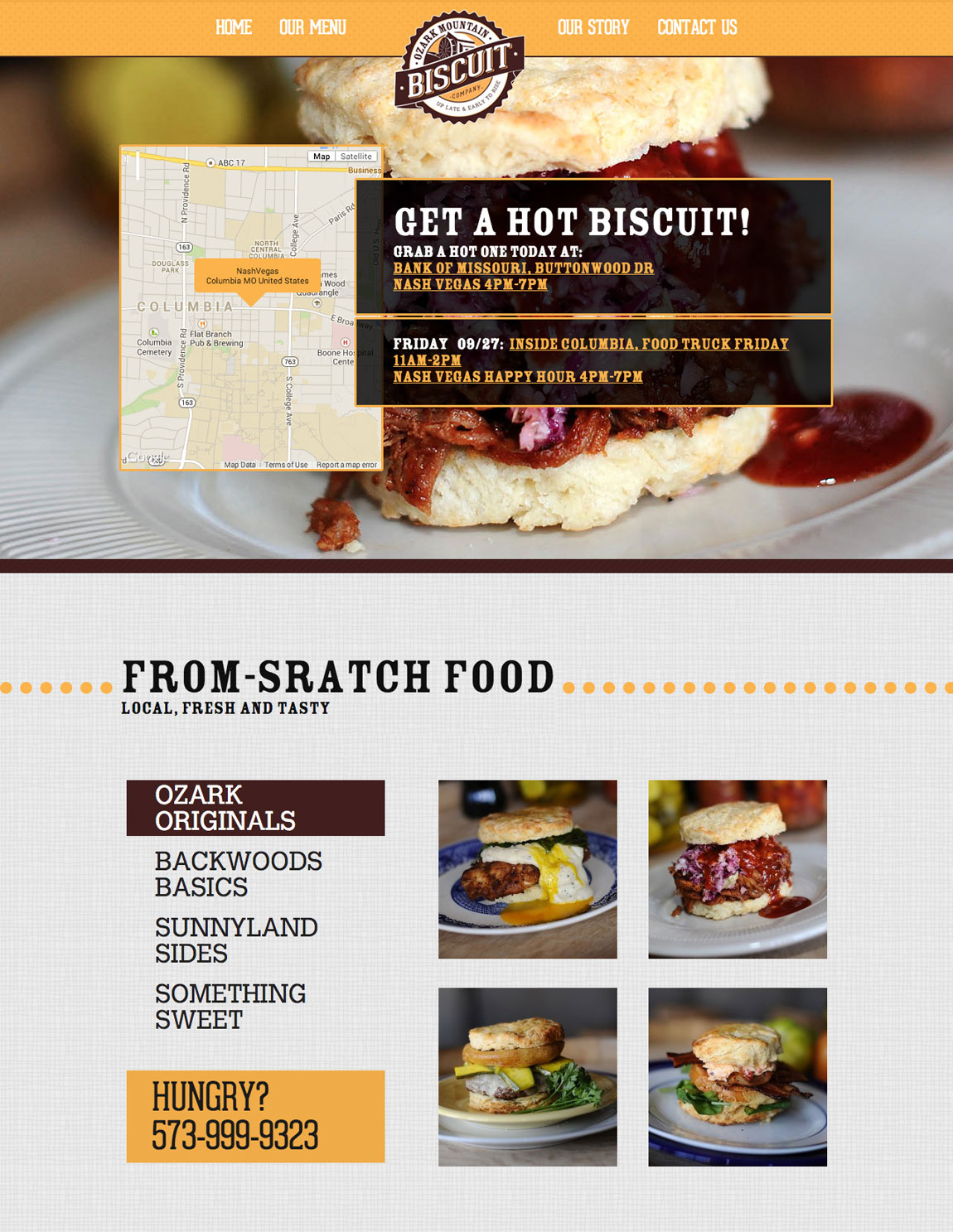 Ozark Mountain Biscuit Co. Website Screenshot