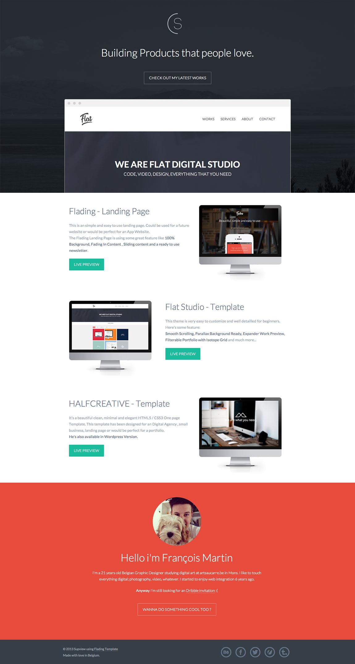 Supview – François Martin Website Screenshot
