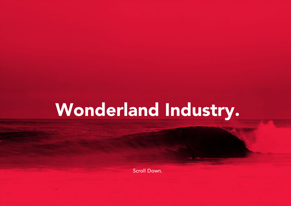 Wonderland Industry Website Screenshot
