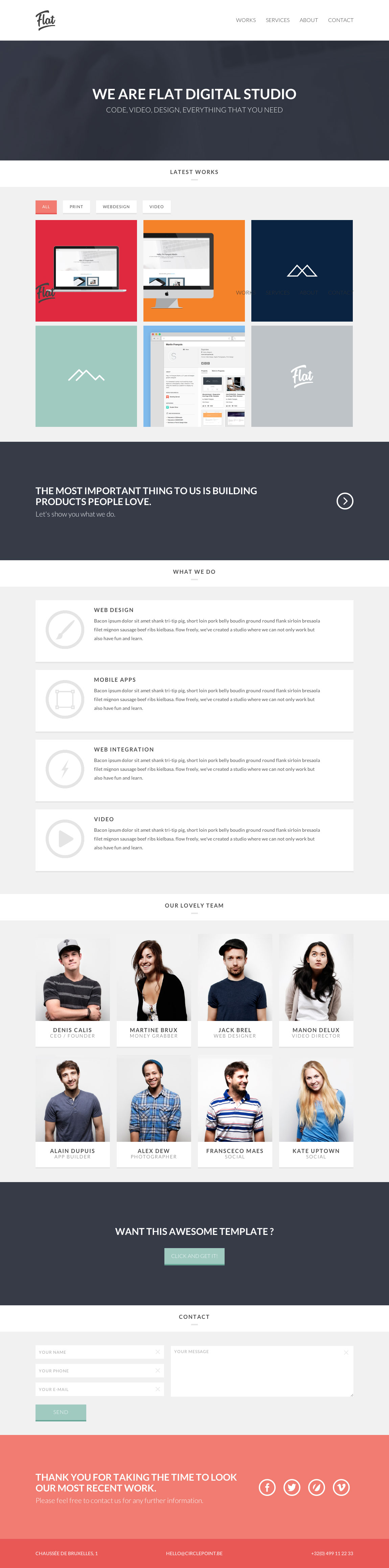 Flat Studio Website Screenshot