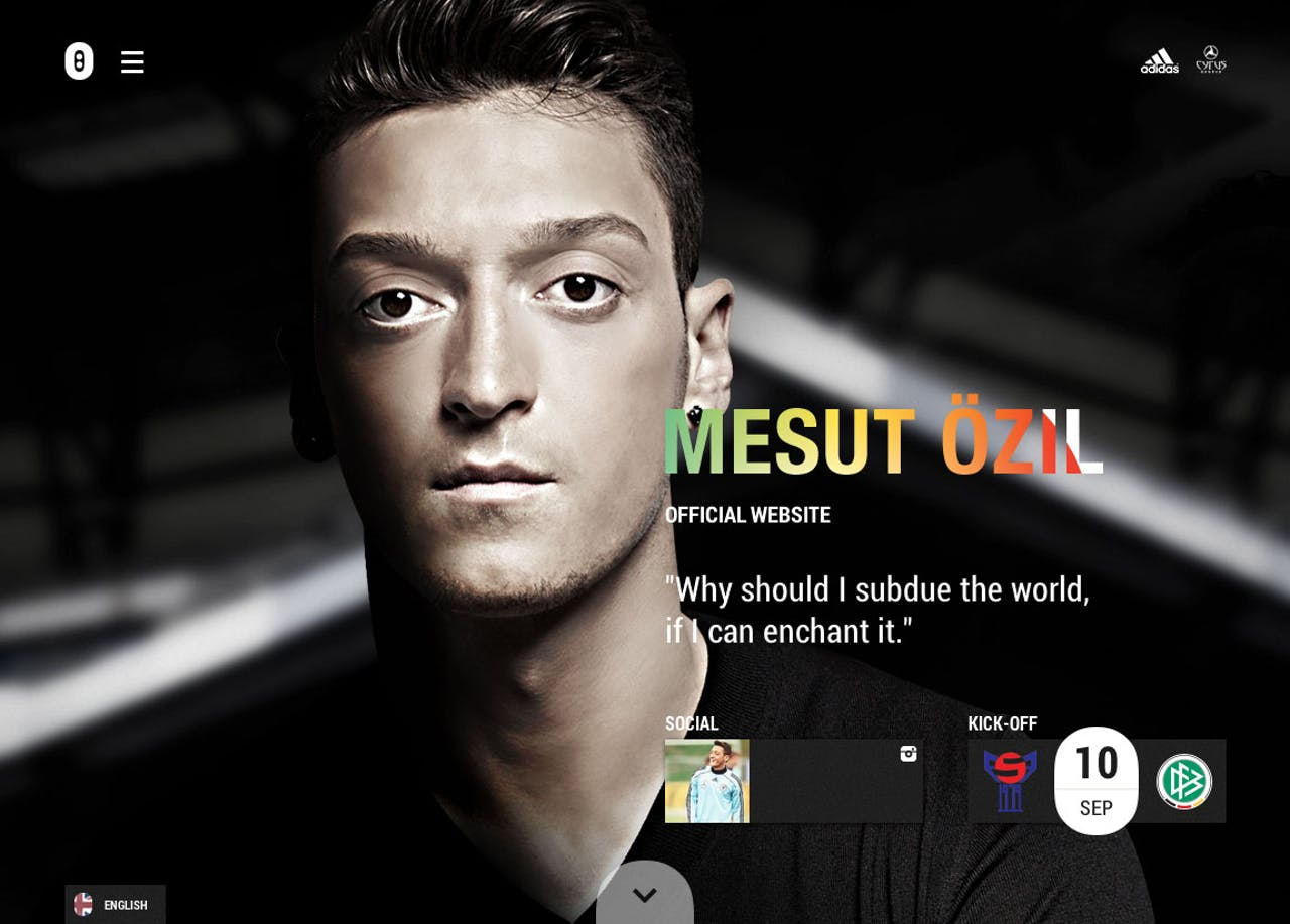 Mesut Özil Website Screenshot