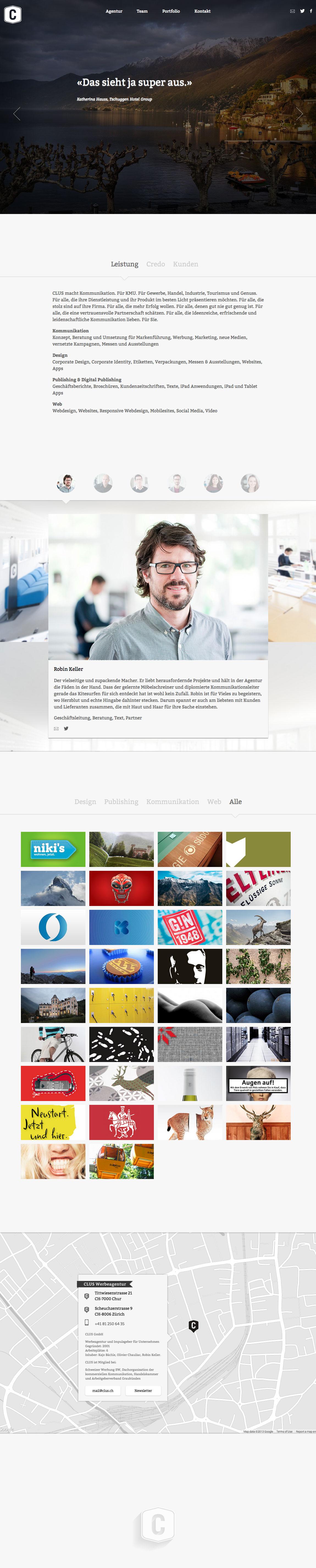 Clus Website Screenshot