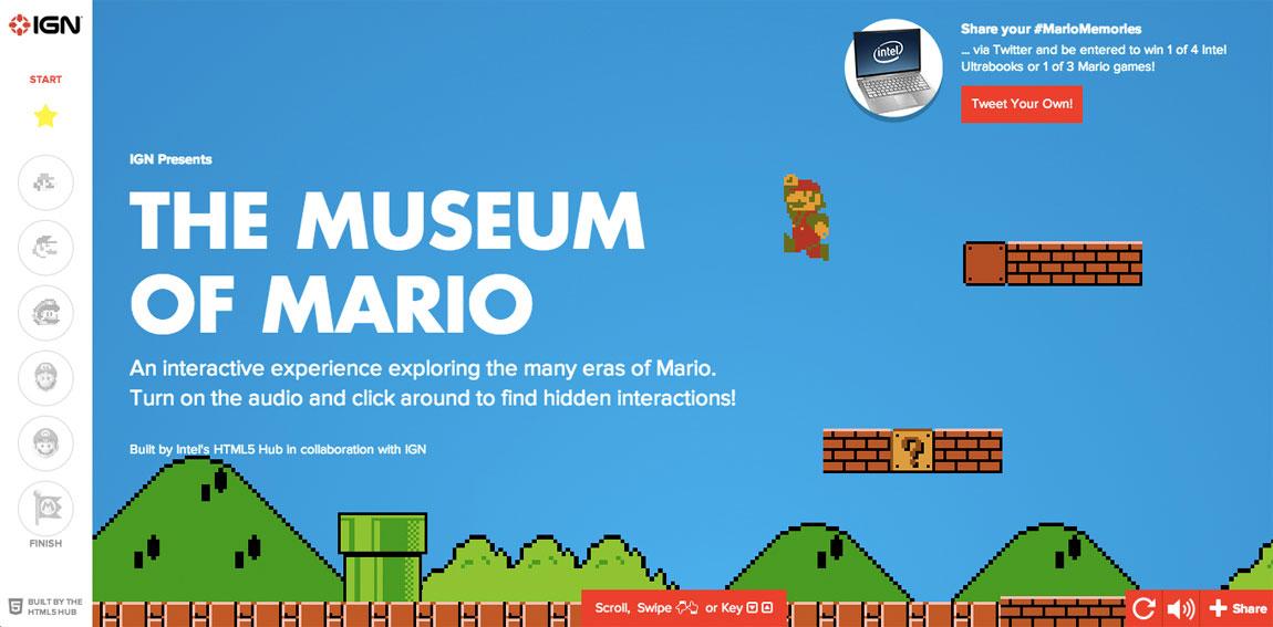 Museum of Mario Website Screenshot