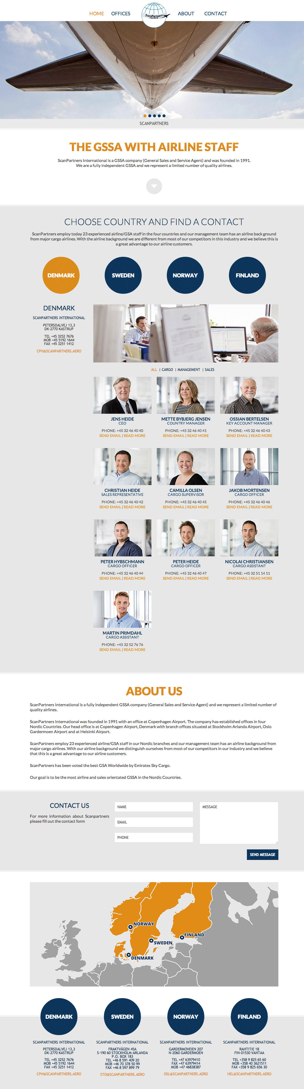 ScanPartners Website Screenshot
