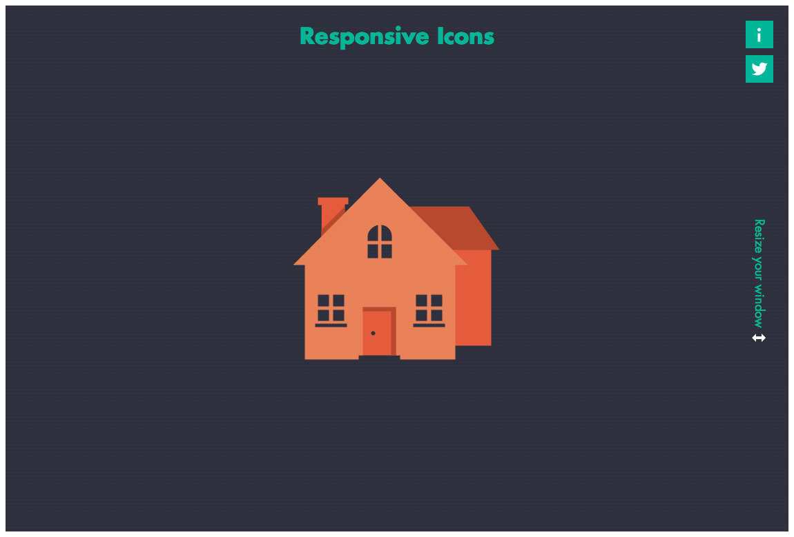 Responsive Icons Website Screenshot