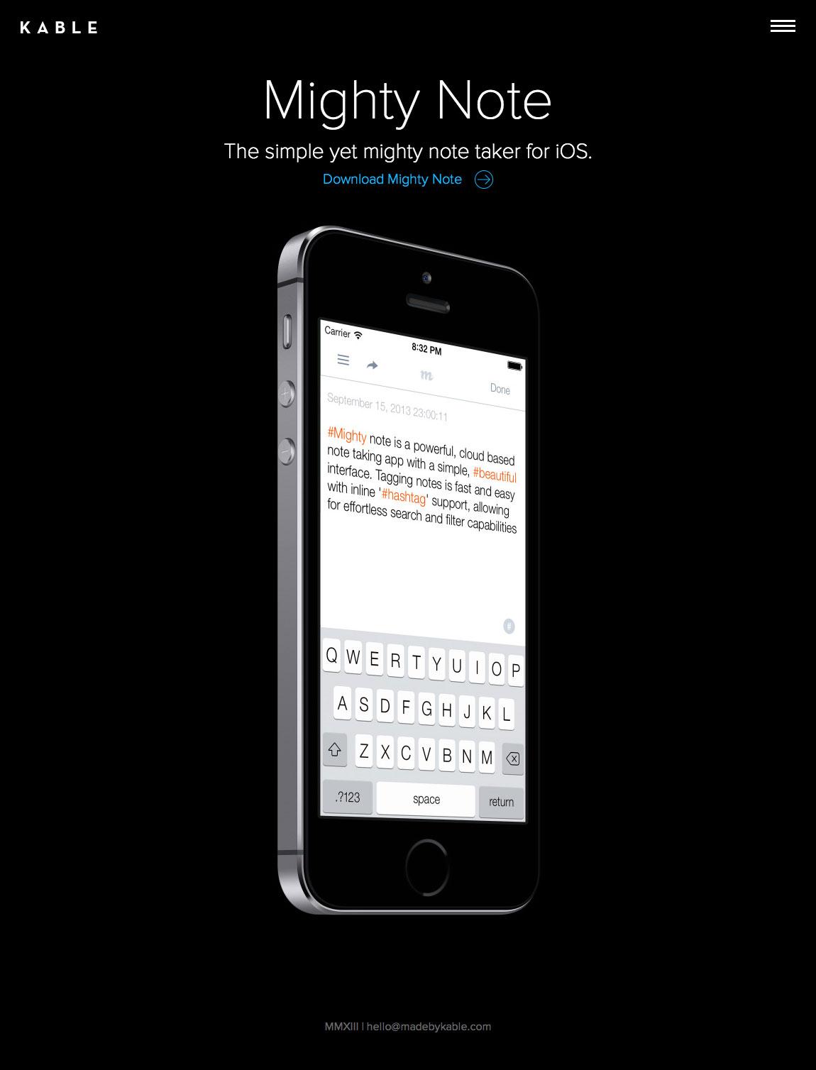 Kable Website Screenshot