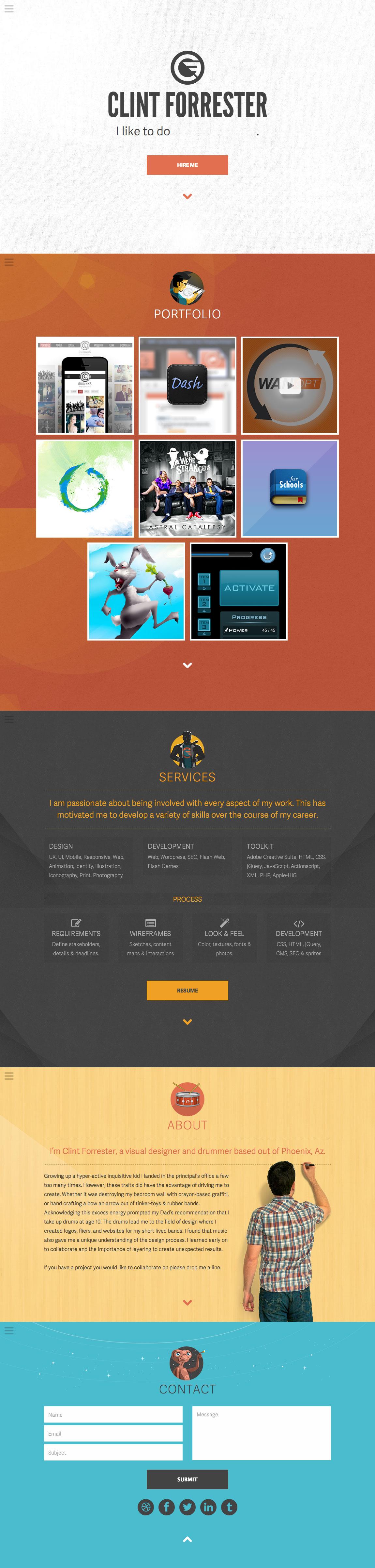 Clint Forrester Design Website Screenshot