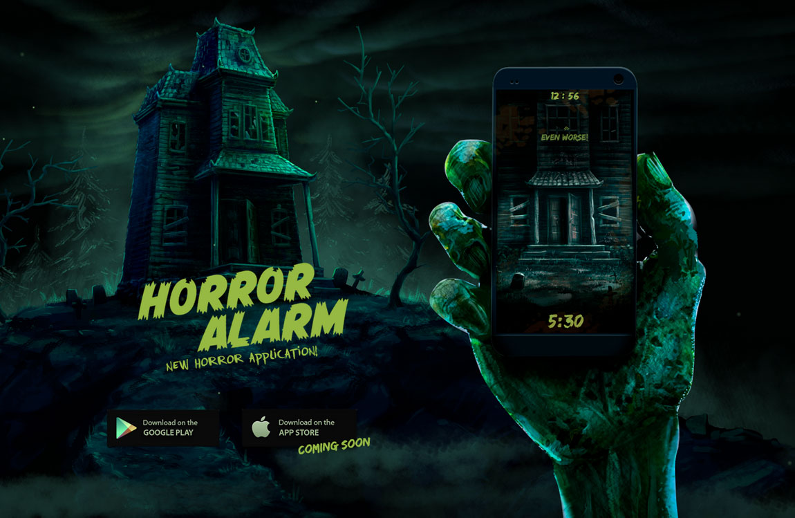 Horror Alarm Website Screenshot