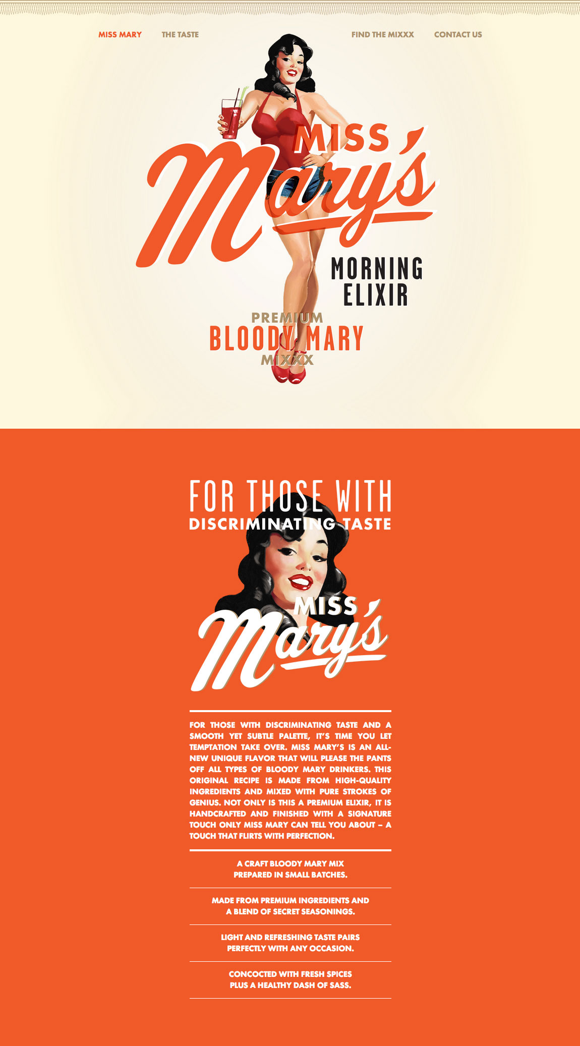 Miss Mary's Morning Elixir Website Screenshot