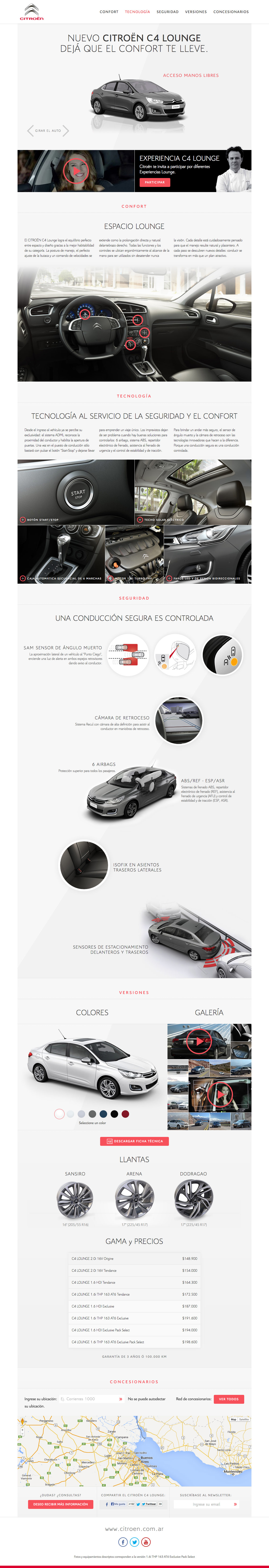 Citroen C4 Lounge Website Screenshot