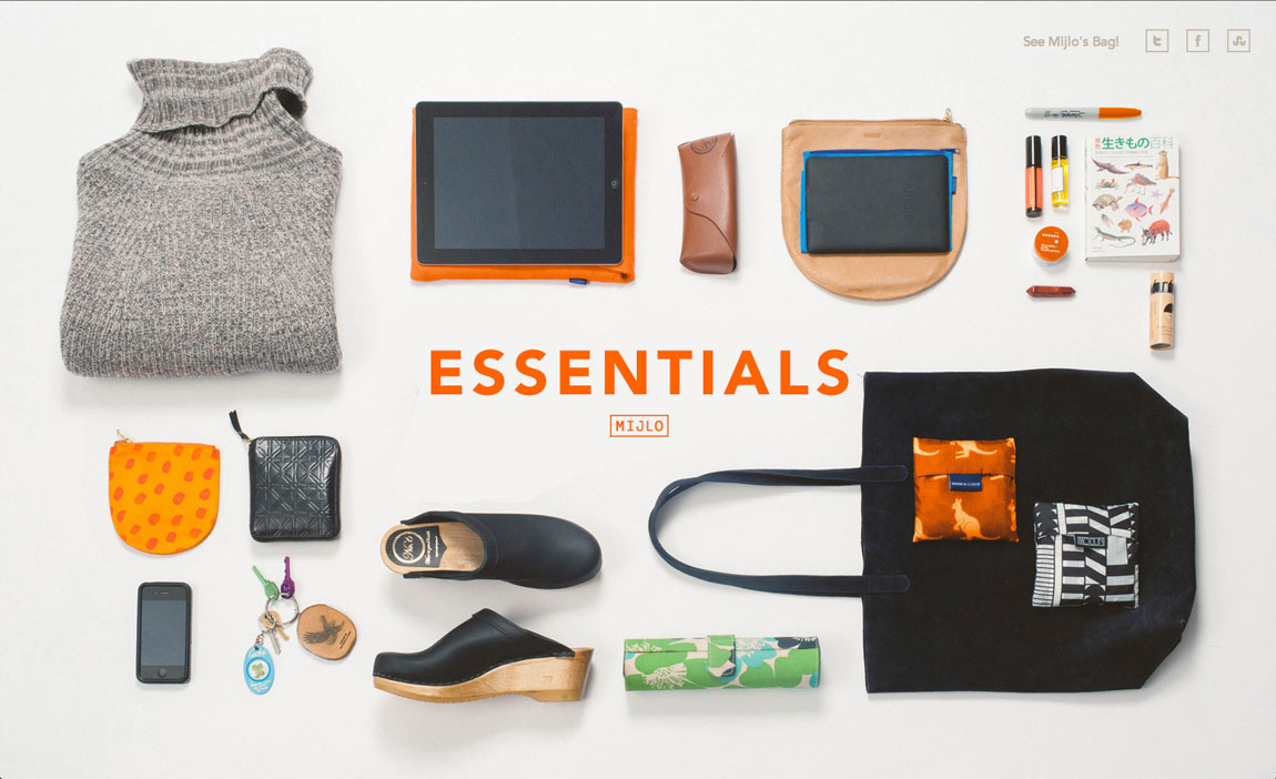 MIJLO Essentials Website Screenshot