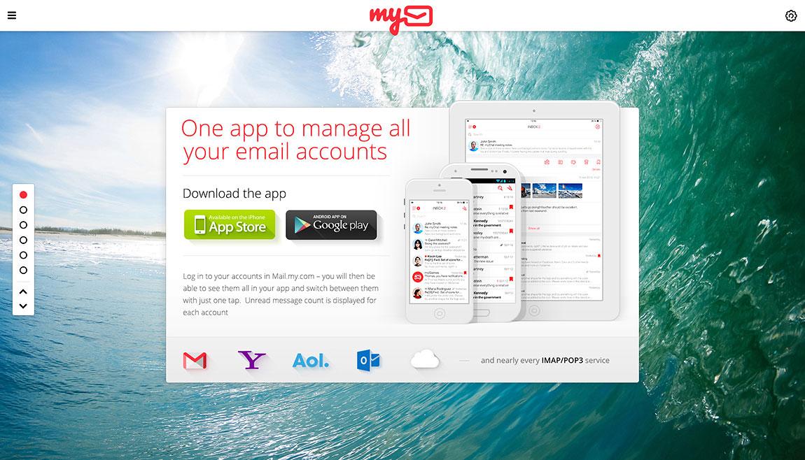 myMail Website Screenshot