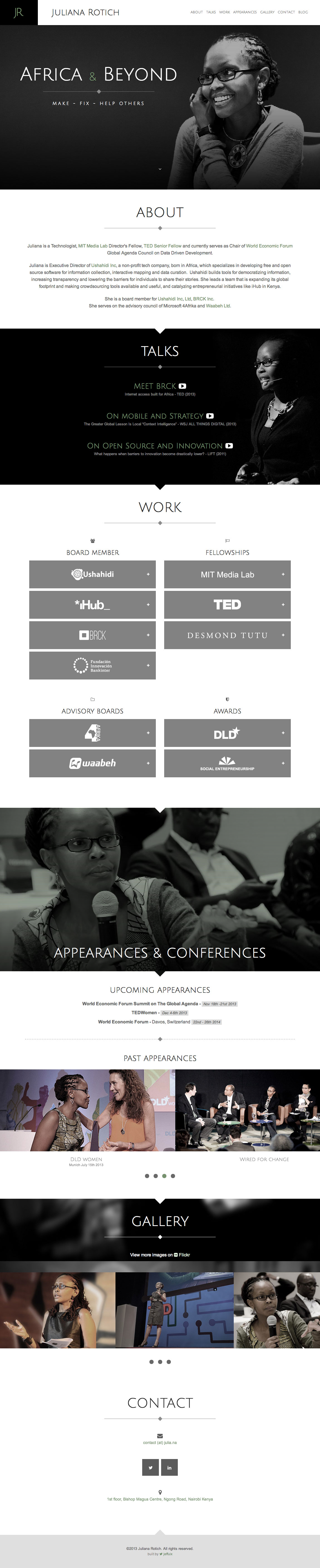 Juliana Rotich Website Screenshot