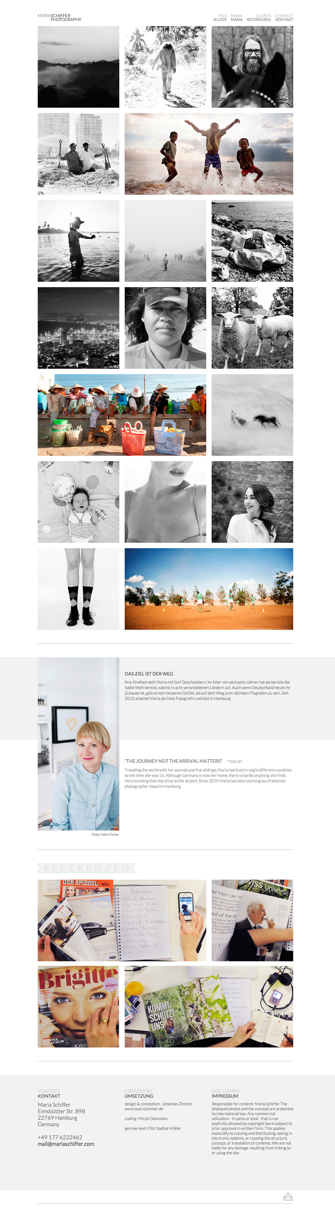 Maria Schiffer Photography Website Screenshot