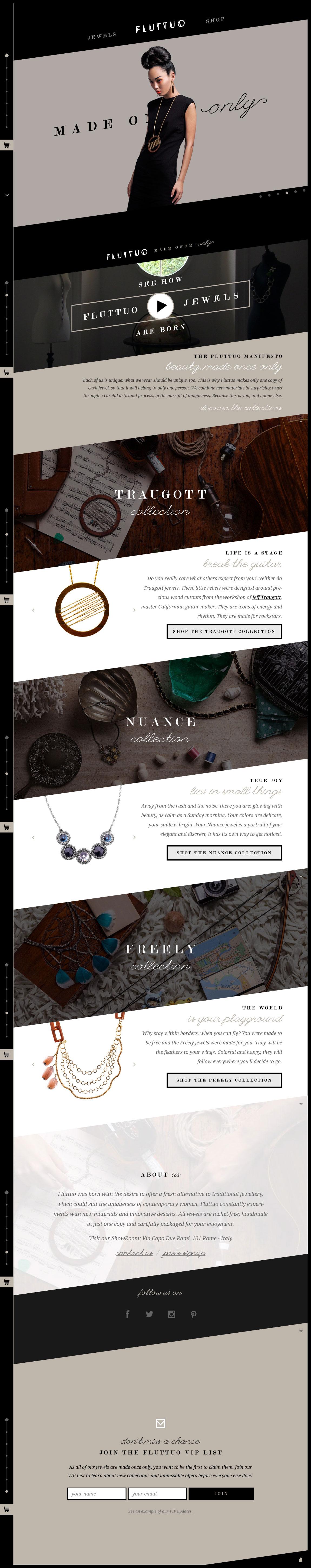 Fluttuo – Made Once Only Website Screenshot