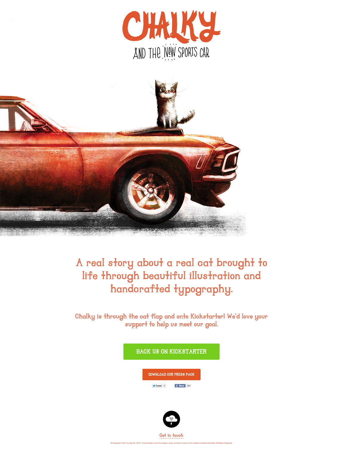 Chalky The Cat Website Screenshot