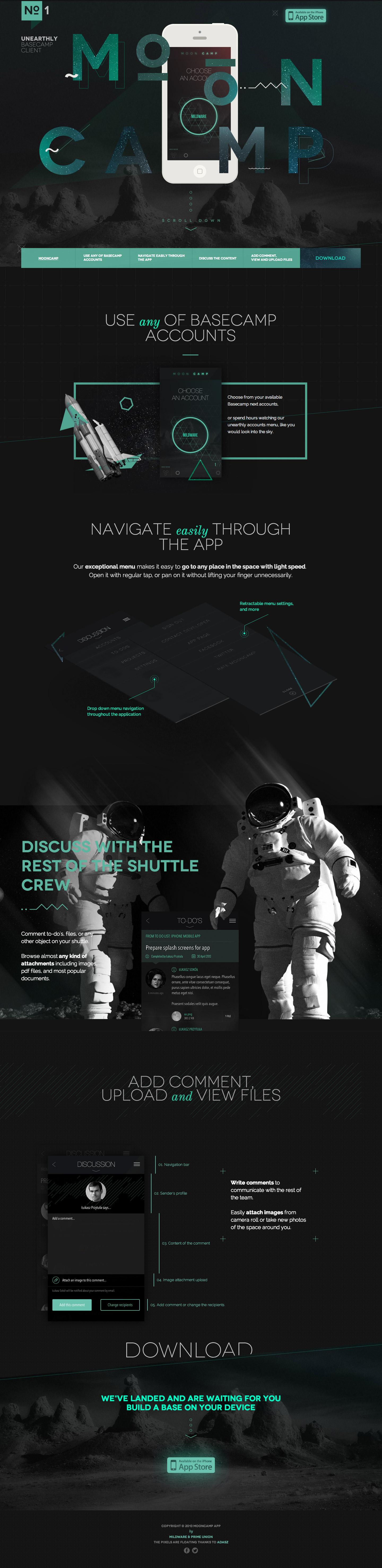Mooncamp Website Screenshot