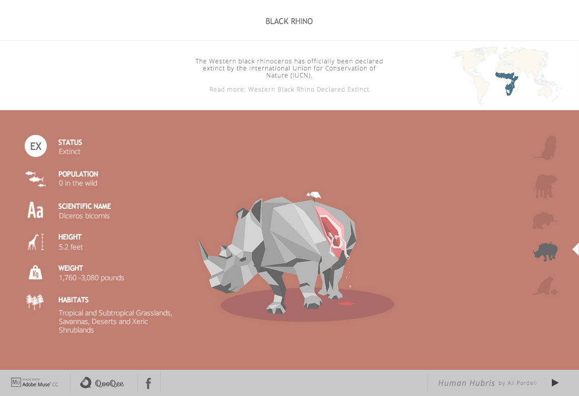 Human Hubris Website Screenshot