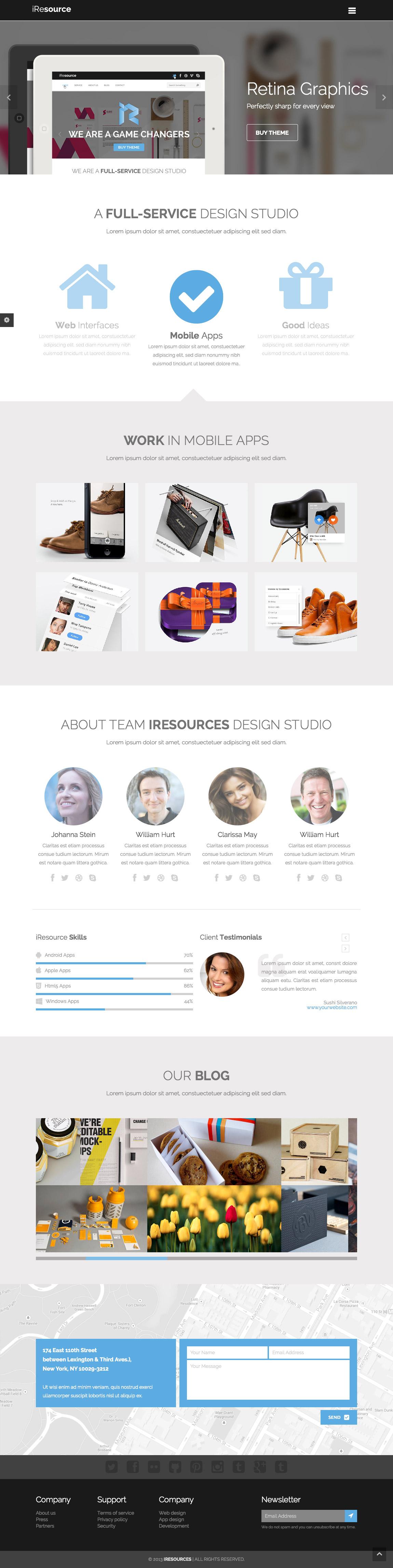 iResources Website Screenshot
