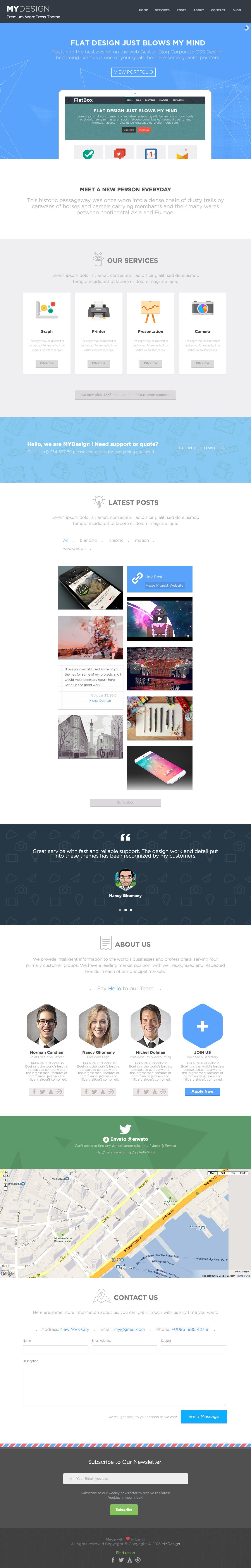 MYDesign Website Screenshot