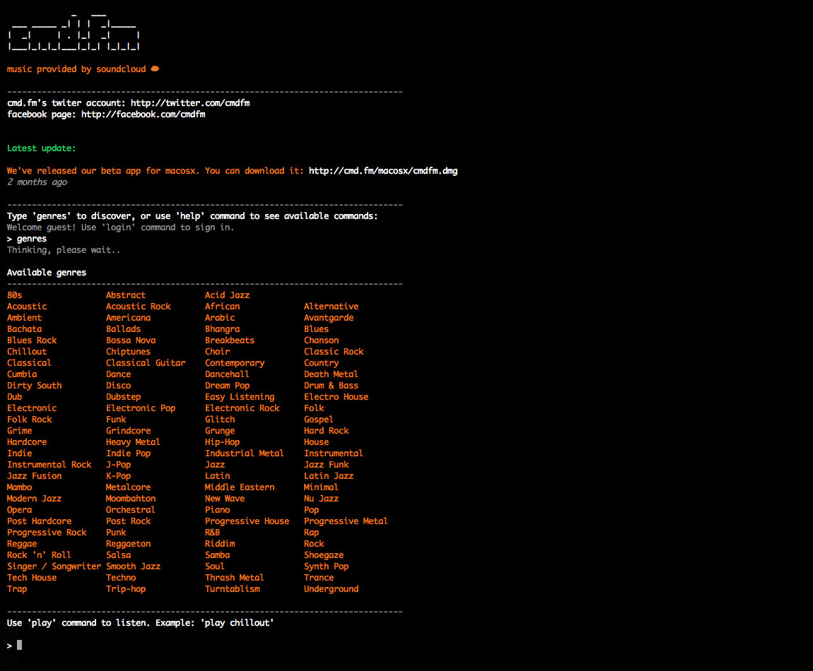 cmd.fm Website Screenshot