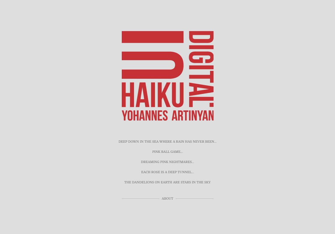 Digital Haiku Website Screenshot