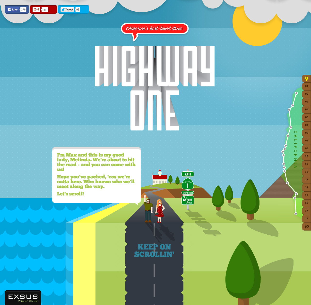 Highway One Road Trip Website Screenshot